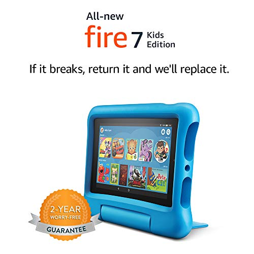 "Fire 7 Kids Edition Tablet, 7"" Display, 16 GB, Blue Kid-Proof Case-Digital Text 2-humblys.com"