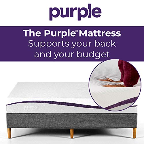 Purple Twin Mattress | Hyper-Elastic Polymer Bed Supports Your Back Like A Firm Mattress and Cradles Your Hips and Shoulders Like A Soft Mattress - Cooler and More Supportive Than Memory Foam-Furniture-humblys.com