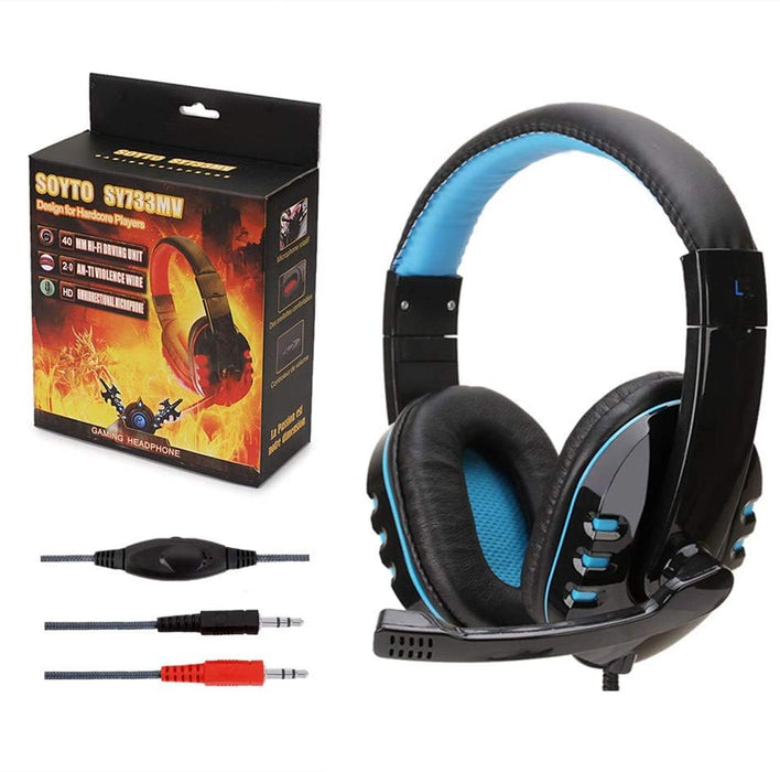Black/Blue Noise Cancellation Gaming Headset-gadgets-humblys.com