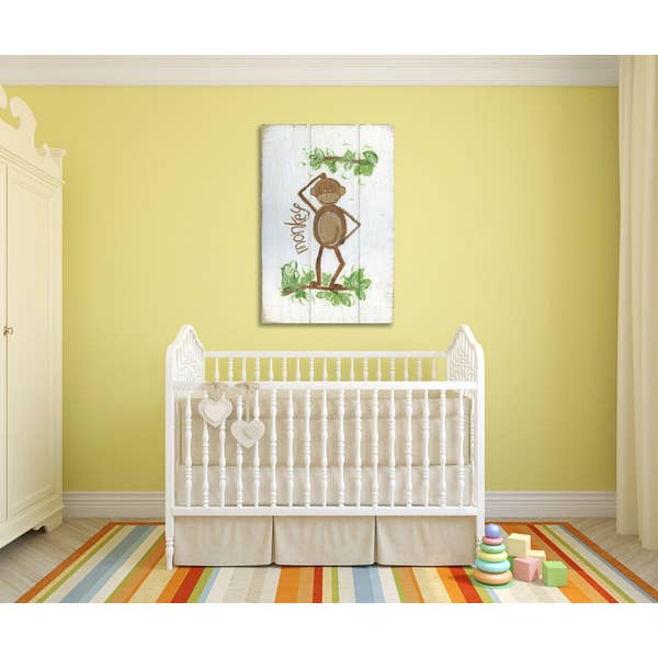 Happy Monkey Gallery Wrapped Canvas Art-Art-humblys.com