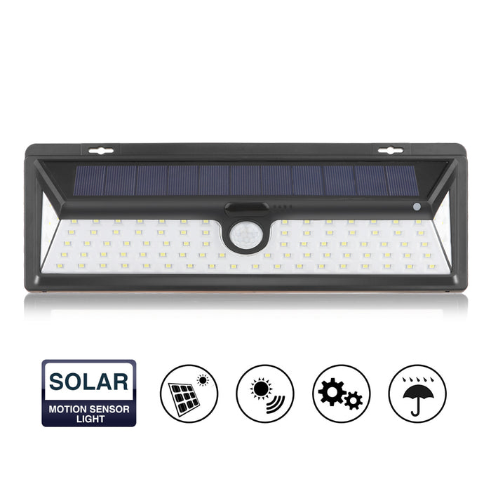90-LED Solar Wall Lamp Infrared PIR Motion Sensor-Home & Garden-humblys.com