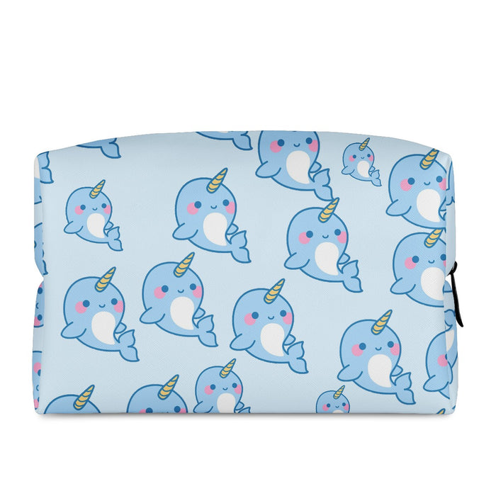 Cute Narwhal Cosmetic Bag!-Bags-humblys.com