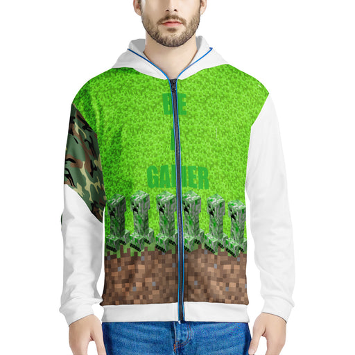 Creeper Be a Gamer Hoodie LED Jacket-Men clothing-humblys.com