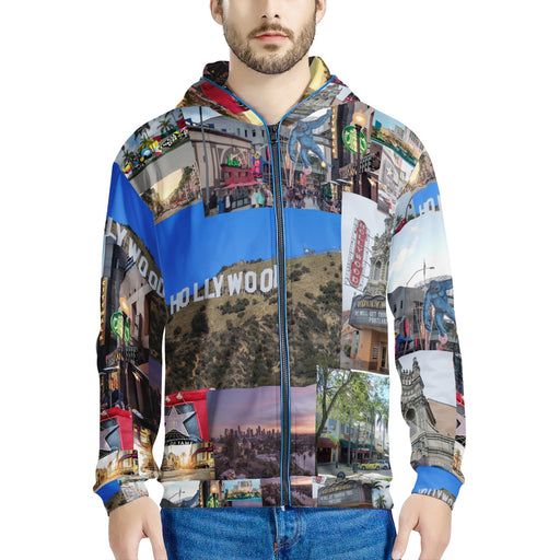 Hollywood Madness LED Light Up Hooded Jacket-Men's Clothing-humblys.com