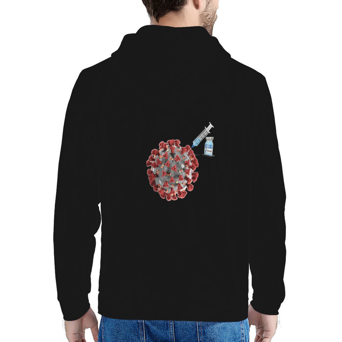 """Got Vaccinated?"" Men's Hooded Jacket-Men-humblys.com"