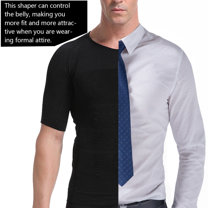 Men's Body Toning T-Shirt Shape Wear-shapewear-humblys.com