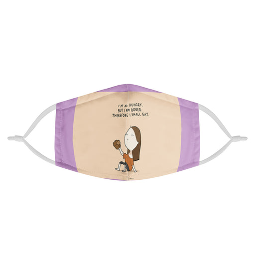 """I am a foodie!"" Kids Face Mask-Accessories-humblys.com"