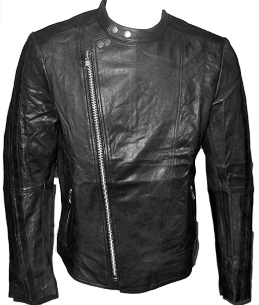 Men's Vintage Washed Leather Jacket-Jackets & Outerwear-humblys.com