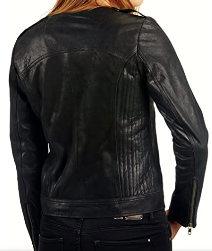 Women's Vintage Washed Motorcycle Jacket-Jackets & Outerwear-humblys.com