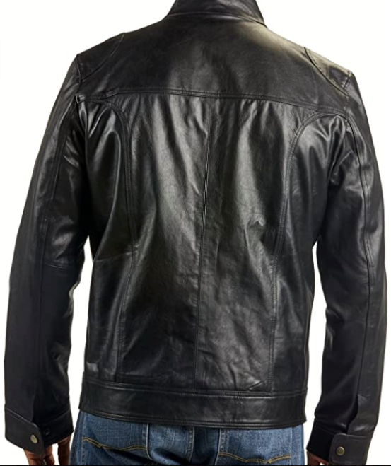 Men's Raging Black Leather Jacket-Jackets & Outerwear-humblys.com