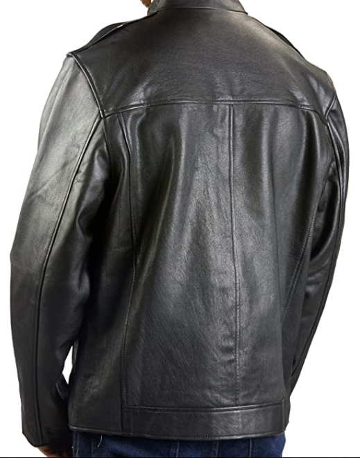 Men's Goatskin Black Leather Jacket-Jackets & Outerwear-humblys.com