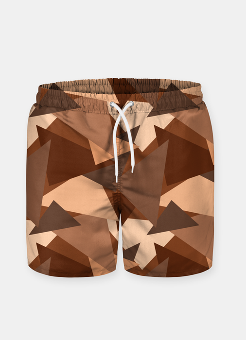 Chocolate Pattern Shorts for Men-Swimwear-humblys.com