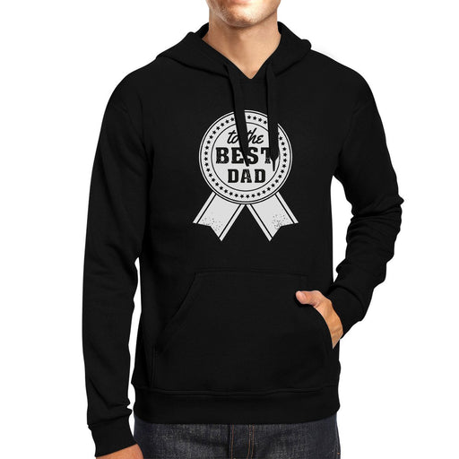 To The Best Dad Unisex Black Vintage Design Hoodie-Sweaters & Hoodies-humblys.com