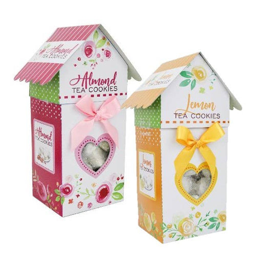 Watercolor Birdhouse Tea Cookies Mothers Day - Case of 10-Food & Grocery-humblys.com