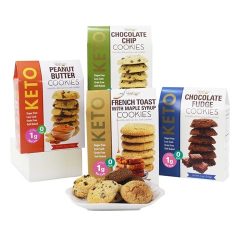 Assorted Delicious Flavorful Keto Cookies - Case of 4-humblys.com