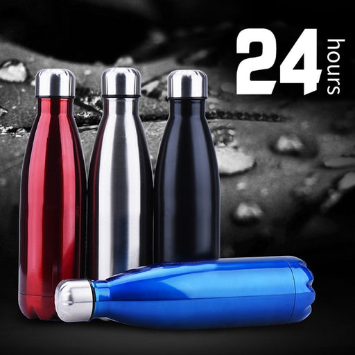 Water Flask Electroplated Stainless Steel Outdoors Sports Wide Mouth Vacuum Insulated Tumbler Bottle-hydro flasks-humblys.com
