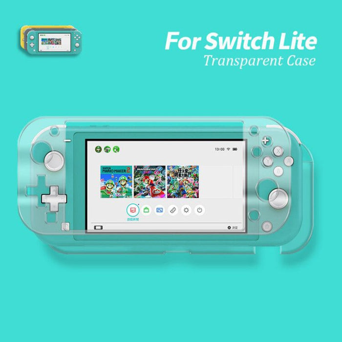 2019 Case For Nintendo Switch Lite Crystal Case For Nintend Switch Lite Hard PC Transparent Cover Screen Tempered Glass Film-Cases & Covers-humblys.com