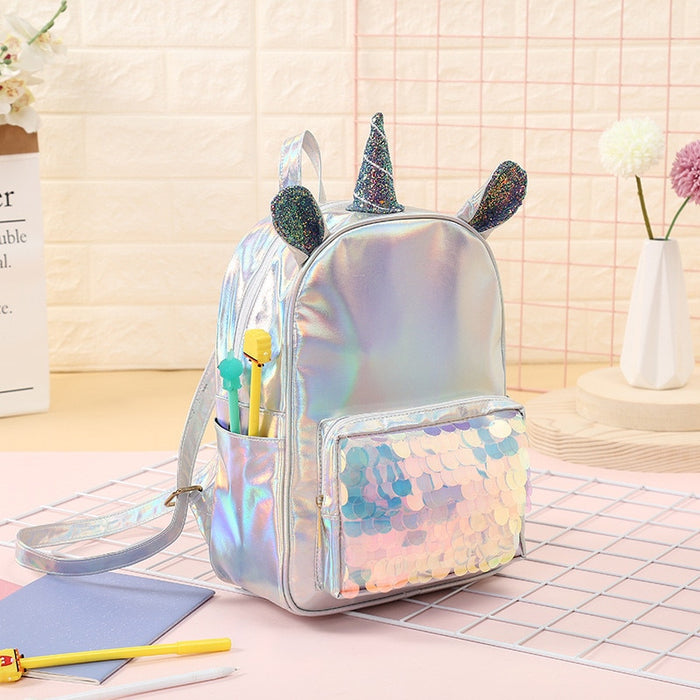 Unicorn Sequins Backpack-Backpack-humblys.com