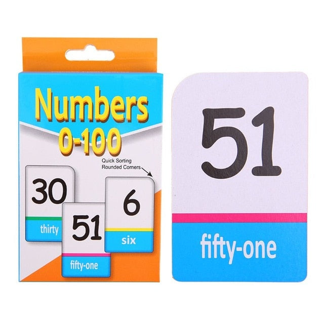 Montessori Material Alphabet English Flash Card With numbers-humblys.com