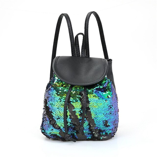 Women's Sequins Backpack Teenage Girls Students Fashion School Backpack Casual Travel Rucksack Storage bag-Backpack-humblys.com
