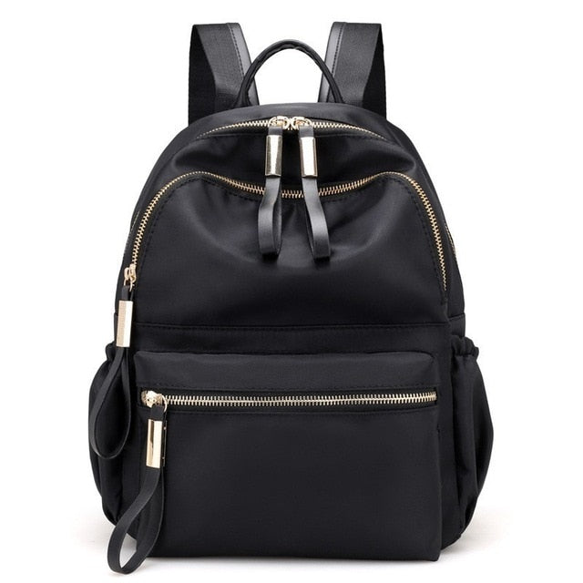 Herald Fashion Women Backpacks High Quality School Bags for Teenagers Female Nylon Travel Bags Girls Bowknot Backpack Mochilas-Backpack-humblys.com