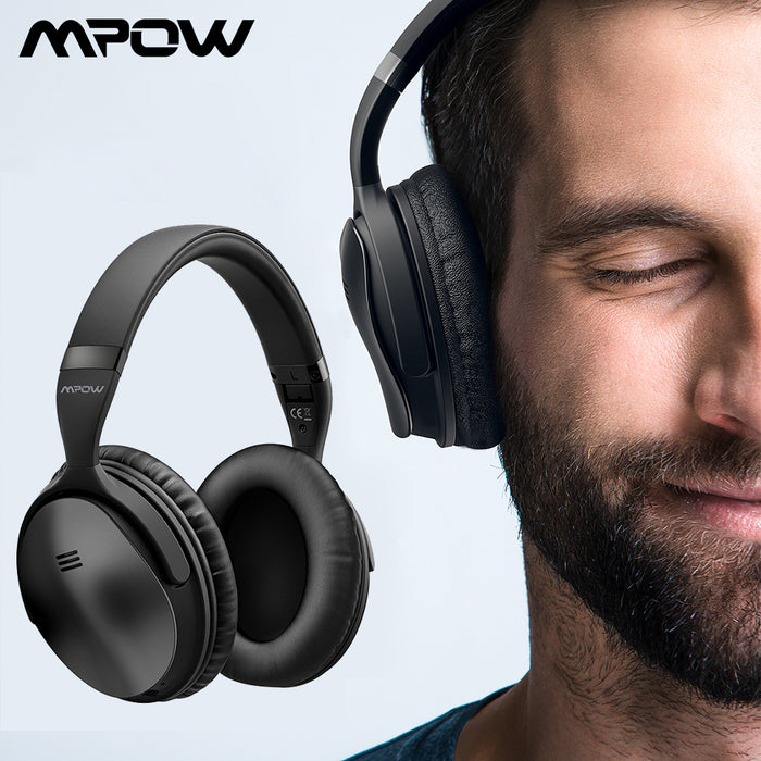 Mpow H5 2nd 2Gen Wireless Bluetooth Headphones ANC Active Noise Cancelling Headphone With Carrying Bag For Huawei P30 Iphone XR-Electronics-humblys.com