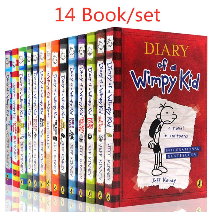 14 Book set Diary of A Wimpy Kid [Hard-Back]-Books-humblys.com