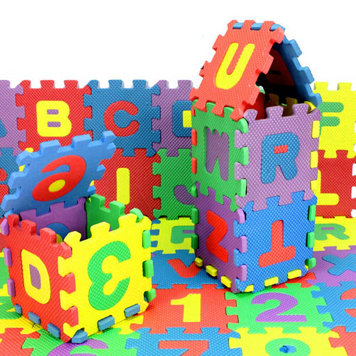 Kids Number Alphabet Puzzle with Foam Math-toys-humblys.com