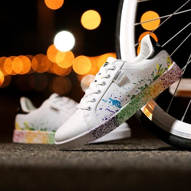 Akk Graffiti Sneaker Shoes for Women-Shoes-humblys.com