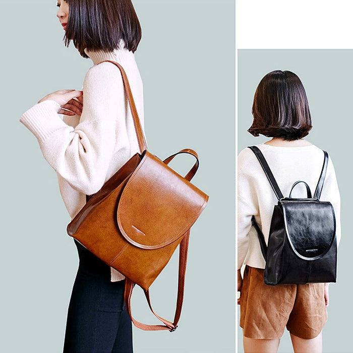 Genuine Leather Women Backpack Split Leather Female Fashion Designer Travel Backpack Casual Rucksack Club Back Pack Girl Mochila-Backpack-humblys.com