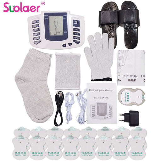 Electric Herald Tens Acupuncture Body Muscle Massager Digital Therapy Machine 16 Pads For Face Back Neck Shoulder Wrist Foot Leg-Home-humblys.com