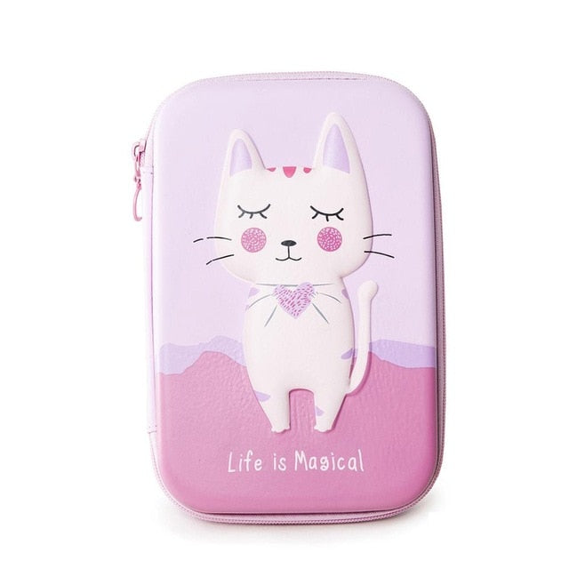 EVA Pen Bag Manufacturers Cute Cartoon Children's Gift Stationery Box Simple Male Female Primary School Student Pencil Case #B-school-humblys.com