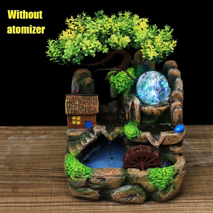 Banzai Tree House With Rockery Water Fountain Home Decor-Home-humblys.com