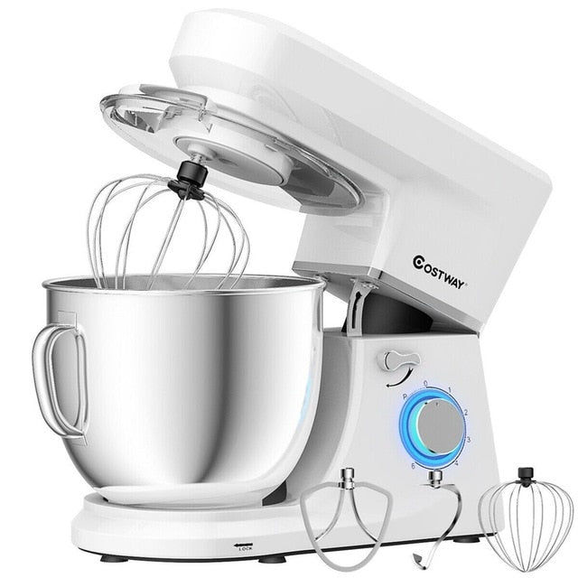 COSTWAY 7.5 Qt 6 Speed 660 W Tilt-Head Stand Mixer-Home-humblys.com