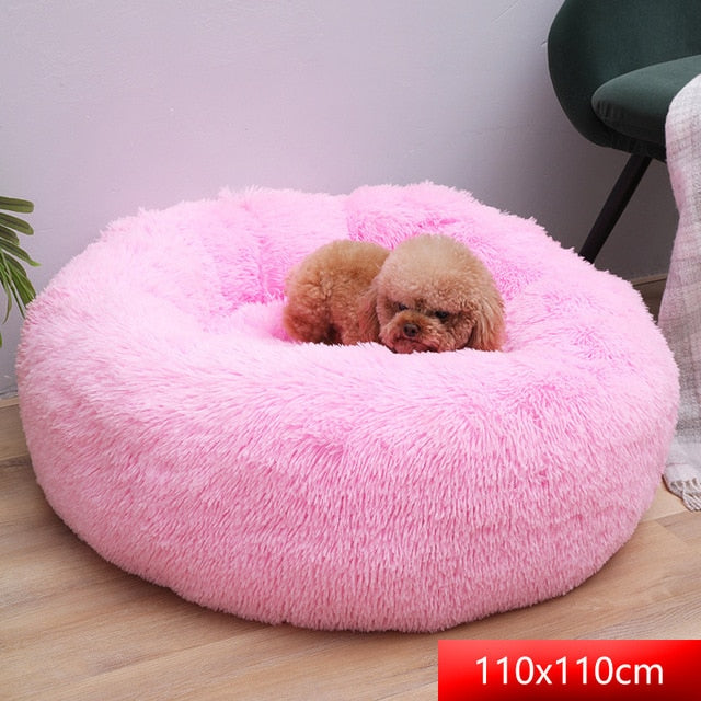 Comfy Calming Dog Beds for Large Medium Small Dogs Puppy Labrador Amazingly Cat Marshmallow Bed Washable Plush Pet Bed-humblys.com