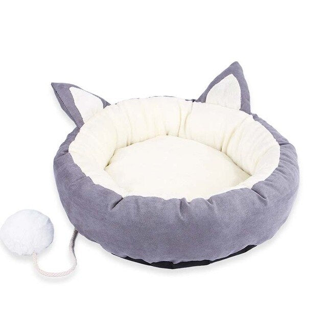New 1× Pet Nes 2019 Hot Popular Style 2 Colors Pet Dog Cat Calming Bed Warm Soft Plush Round Cute Nest Comfortable Sleeping-humblys.com