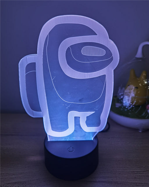 Game Among Us Lamp 16 Colors 3D Night Light-gadgets-humblys.com
