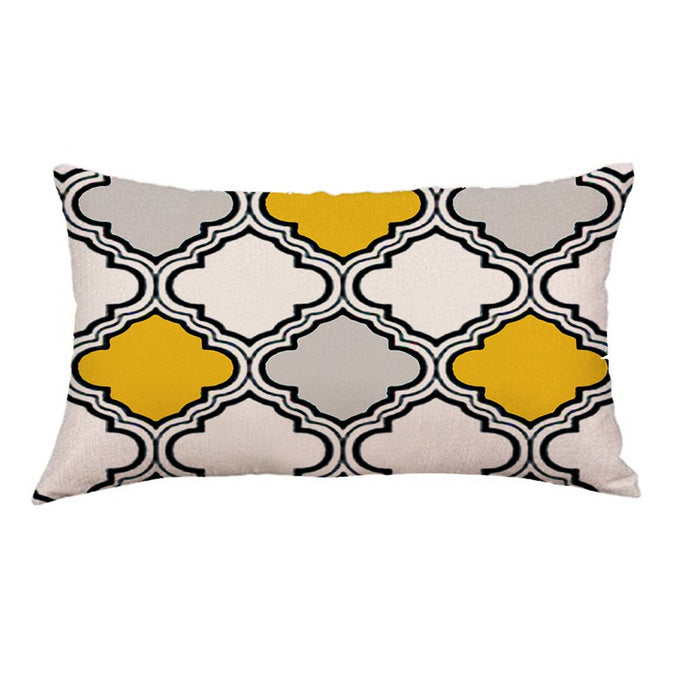 Soft Geometric Plush Pillowcases for Home Decoration-cushion/car pillows-humblys.com