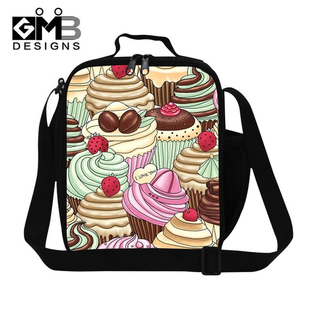 Fashion Children Cat Lunch Bags For Boys Kids Thermal Lunchbox Animal Footprint 3D Print Lunchbag Lancheira Termica Food Bag-school-humblys.com