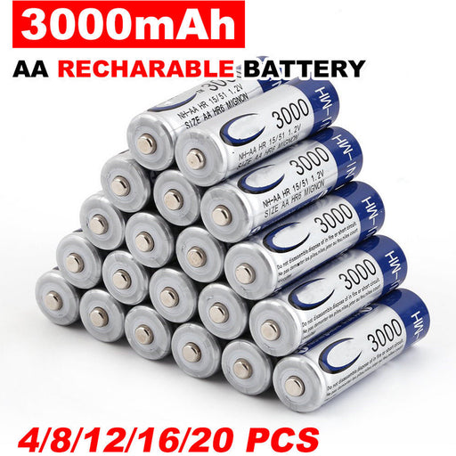 Rechargeable Batteries for AA Size 4 to 50 Packs-Electronics-humblys.com