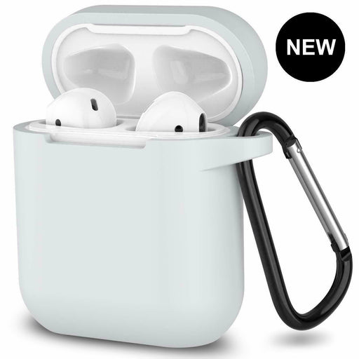 AirPods Silicone Case Cover Protective Skin for Apple Airpod Charger + Keychain Hook-Cases & Covers-humblys.com