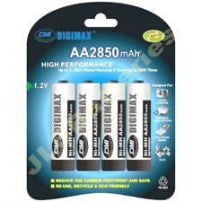 2850ma  x 4 Hi-MH Batteries