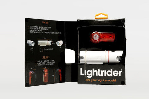 Lightrider Rechargeable Bicycle Light Set