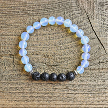 Load image into Gallery viewer, Opalite Aromatherapy Essential Oil Diffuser Bracelet
