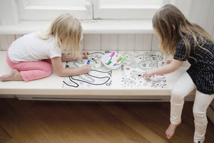 Silicone Reusable Coloring Tablemat Set Wonderland
