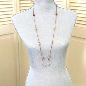 "37"" Petrified Wood Necklace- Paje Necklace"