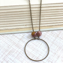 "Load image into Gallery viewer, 37"" Petrified Wood Necklace- Paje Necklace"