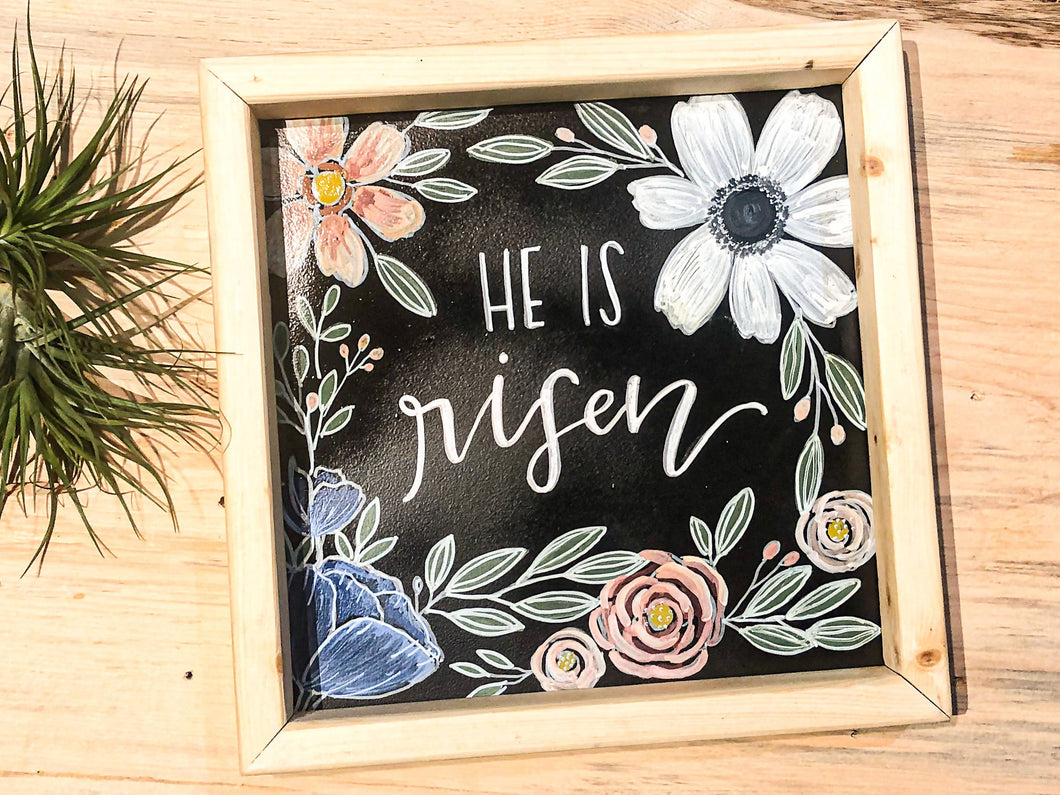 He is Risen Chalk Art