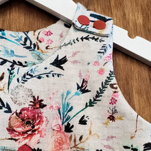 Load image into Gallery viewer, ORGANIC BABY ROMPER - GRAY FLORAL