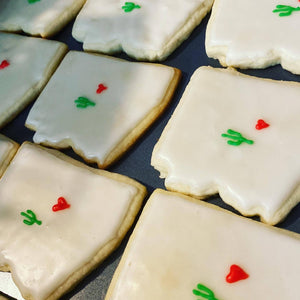 Arizona Themed Sugar Cookies - one dozen variety of four